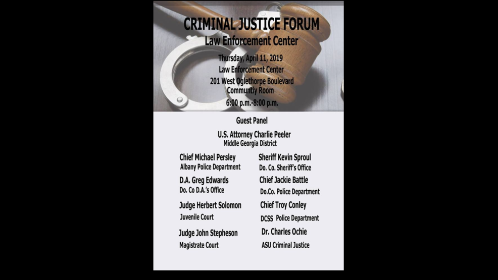 Criminal Justice Forum scheduled for April 11 | WFXL