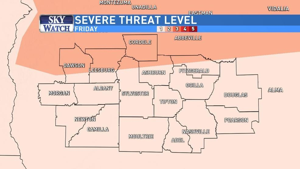 Map Of Southwest Georgia.All Of Southwest Georgia At Risk For Severe Storms Friday Wfxl